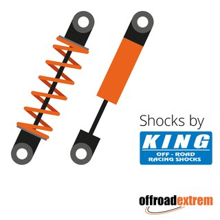 King 2.5 PIGGY HOSE SHOCK W/ADJ (Front) für DODGE RAM 2500 (Bj. 14+)